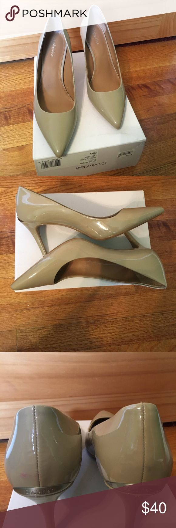 SALE ✨ Calvin Klein Pointed Toe Heels Only worn twice. These heels are classy and professional for multiple occasions. There are minor heel defects and slight pink staining as pictured (the pink coloration shown in the last pic). You can't tell when they're on but they are priced accordingly for your convenience 😊 Calvin Klein Shoes Heels