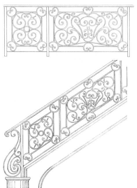 Stair Railing Designs ISR075