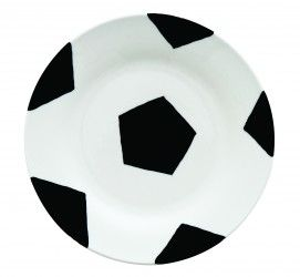 Soccer Ball Plate Art Activity - Children craft their very own soccer ball plate for world cup or the next sporting event.