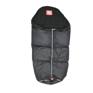 Black sleeping bag for strollers and prams