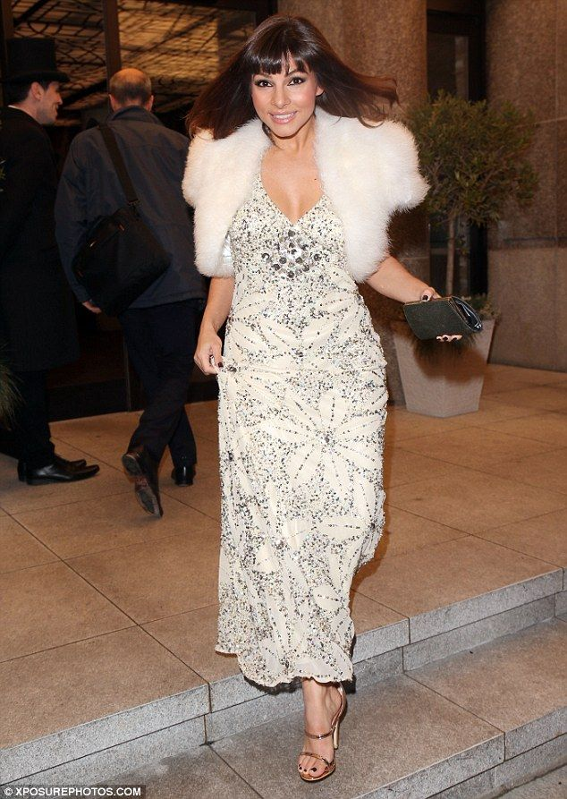 Here she comes:After a reportedly inauspicious start it was an upbeat Roxanne Pallett who sashayed across Leicester Square ahead of her preview appearance in new musical The Wedding Singer
