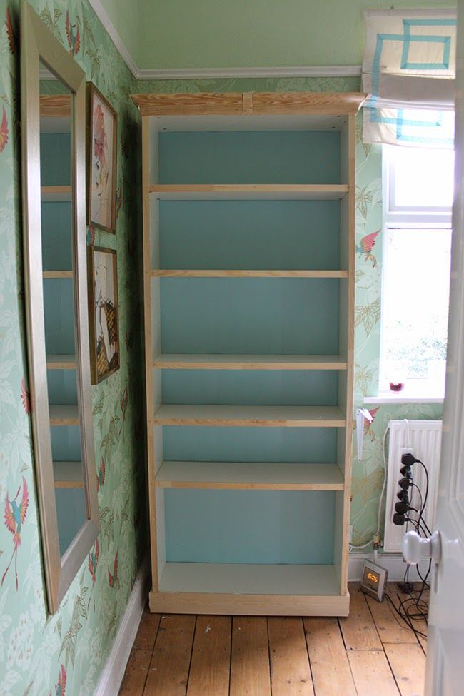 Dressing Room Mini-Makeover: My Ikea Billy Bookcase Hack! » Swoon Worthy