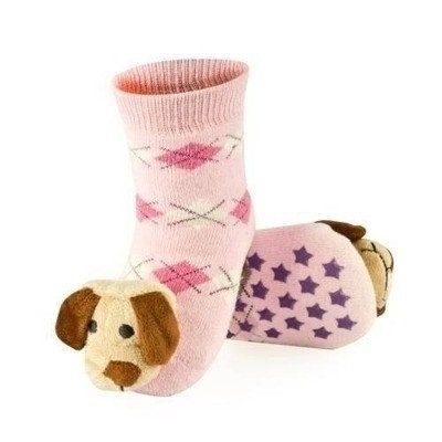 BABY RATTLE SOCKS 'SOXO' SMALL - PUPPY WITH ABS    #MamaFashionMe - Aussie Online Store with Beautiful Accessories for Girls + Some for Boys