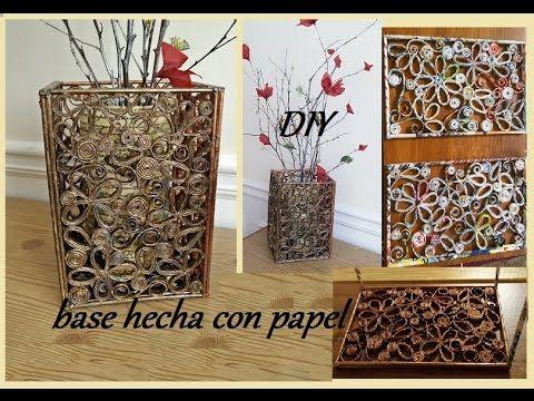 DIY Base de papel - YouTube