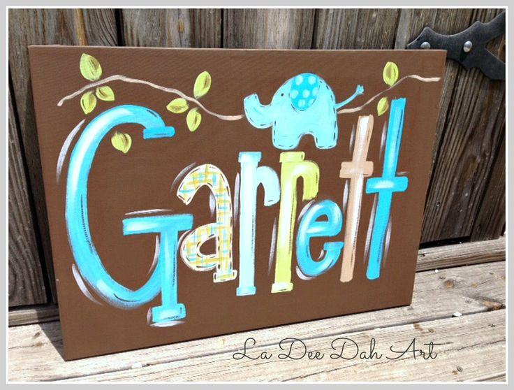 7 best Names images on Pinterest | Canvases, Canvas ideas and Crafts