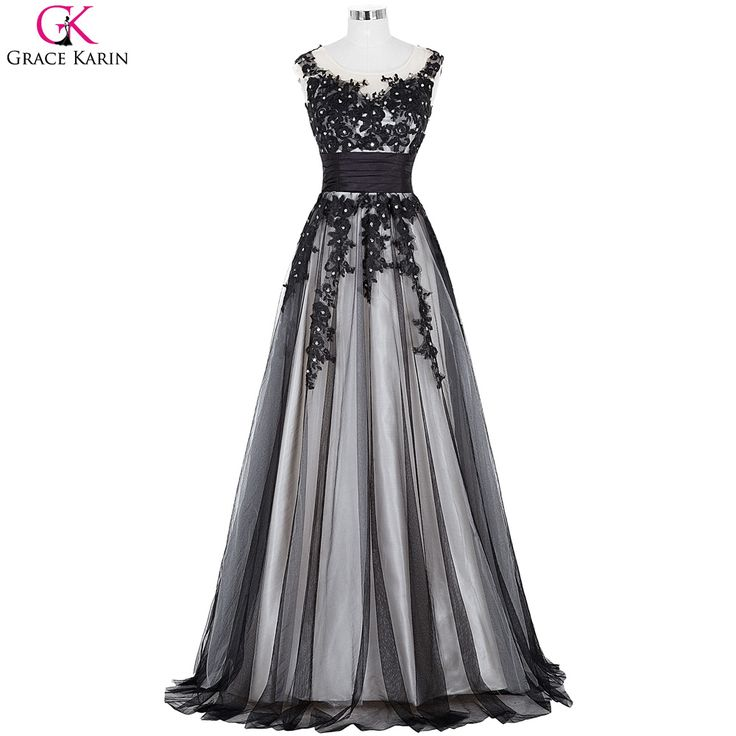 >> Click to Buy << Grace Karin Prom Dresses 2017 Beaded Applique Tulle Elegant Formal Gowns Dinner Robe De Soiree Long Wedding Party Dress Prom #Affiliate