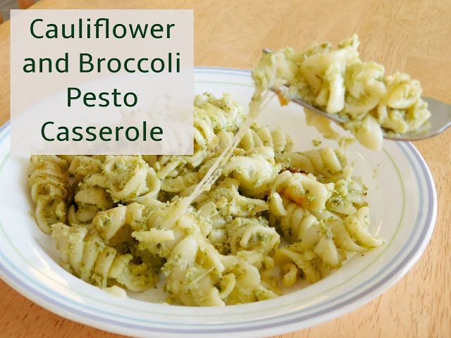 Our Unschooling Journey Through Life: Cauliflower and Broccoli Pesto Casserole
