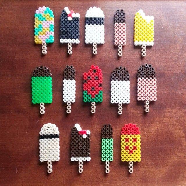 Popsicles hama perler by 1i11e1u11e