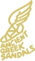 Ancient Greek Sandals.  This company produces both mens and womens sandals inspired by the ancient greek style sandal. http://www.ancient-greek-sandals.com/default.aspx