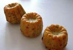 Cannelés jambon petit suisse  persillé