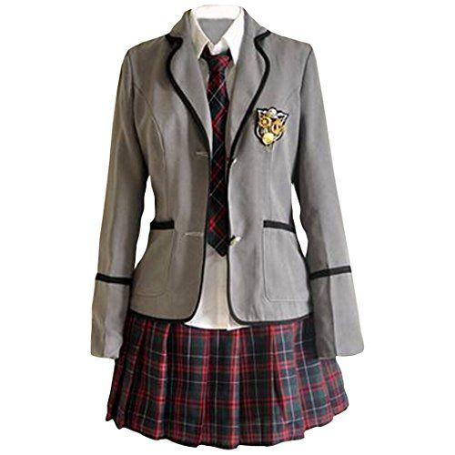 Partiss Maedchen Sweet Japan Schuluniform Fancy Dress Kleid Cosplay Anime Langarm Anzug Mantel Bluse mit Faltenrock Partiss http://www.amazon.de/dp/B01A8INPGY/ref=cm_sw_r_pi_dp_QGv1wb16MRS76