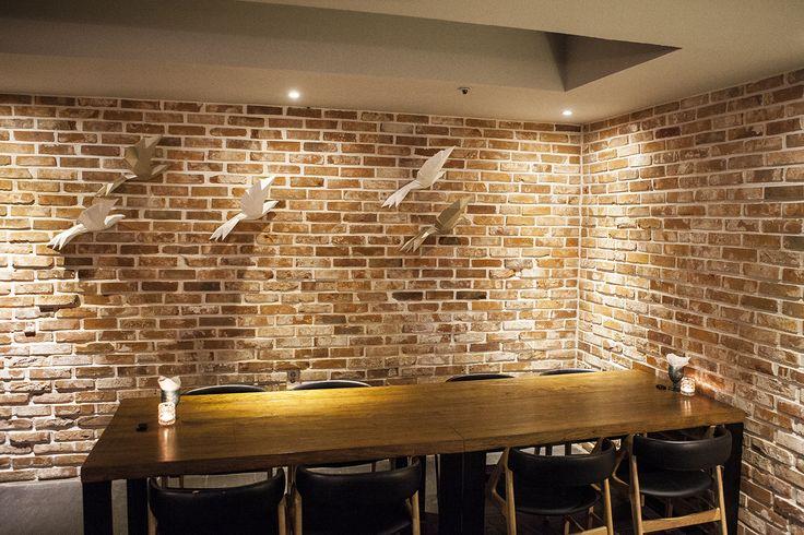 Gold & White Birds @ Fusion Korean Restaurant - Bistro Bon | www.papacollection.com