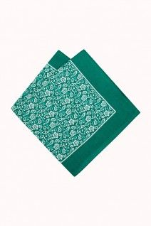 Use the Clifford Paisley Green Hankie as a colourful pocket square for a great addition to any outfit. Available from M.J.Bale.