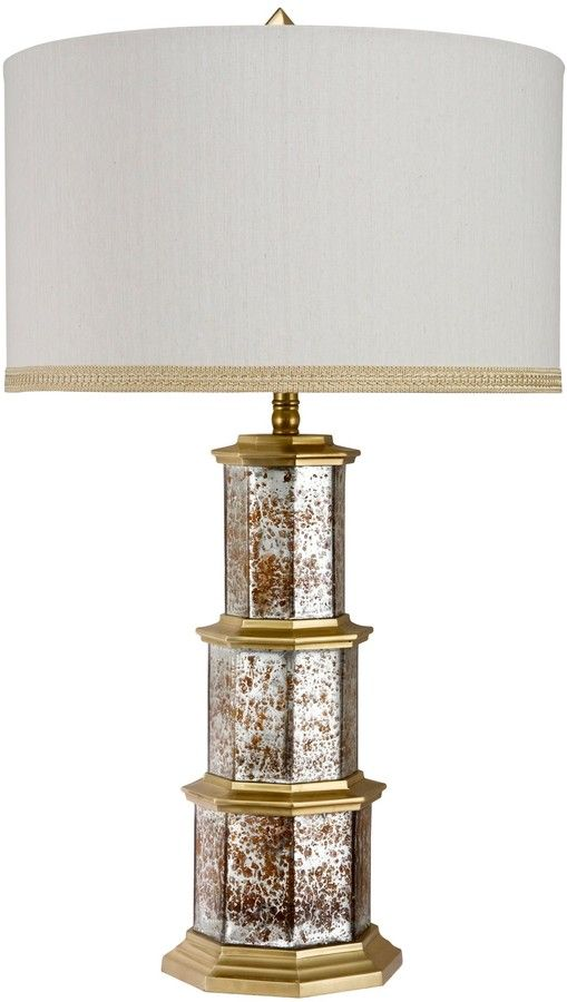 The Well Appointed House Zhending Brass Table Lamp with Shade
