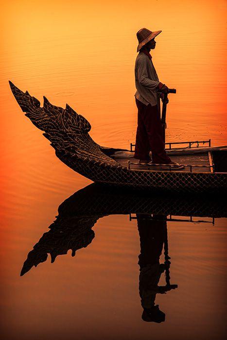 Cambodian Boatman