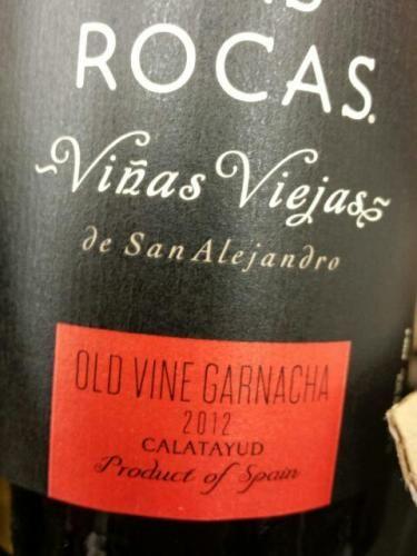 San Alejandro Garnacha Calatayud Viñas Viejas Las Rocas 2012