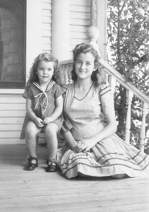 mother and daughter in the 40's