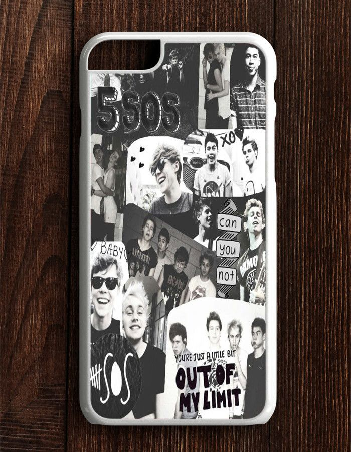5 Second Of Summer Collage Black And White iPhone 6 Plus | 6S Plus Case