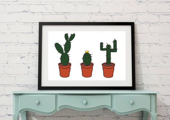 Instant Download 'The Three Amigos' 3 cacti by LittlePenguinStore