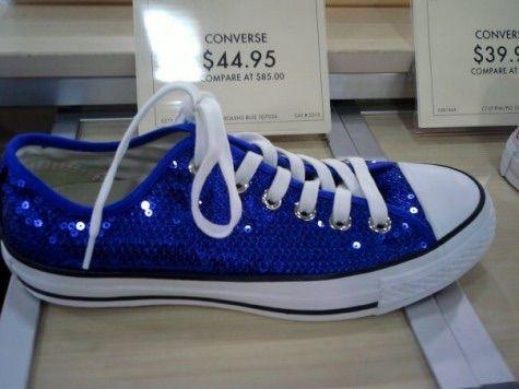 Ideal bridal shoes....royal blue sequin converse!