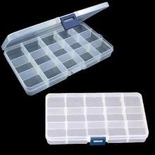 Compact Adjustable 15 Compartment Plastic Storage Box Jewelry Tool Container NEW(China (Mainland))