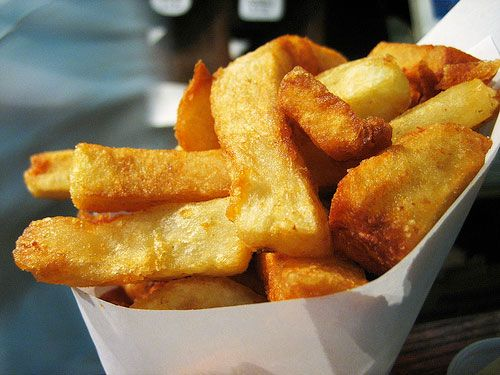 Bobby Flay's recipe for how to do the PERFECT French Fry.  Definitely gonna try this! Mine always turn out weird.