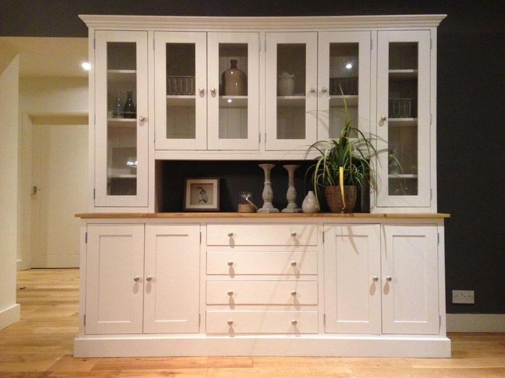 New Solid Pine 7ft Welsh Dresser Kitchen Unit Cabinet Painted Shabby Chic