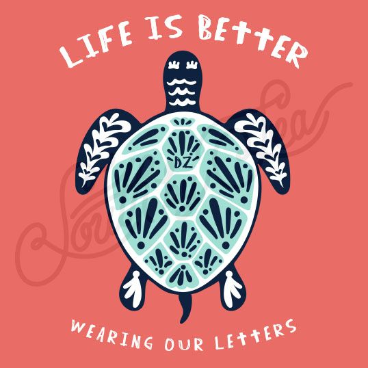 Sorority Recruitment Delta Zeta Turtle South By Sea