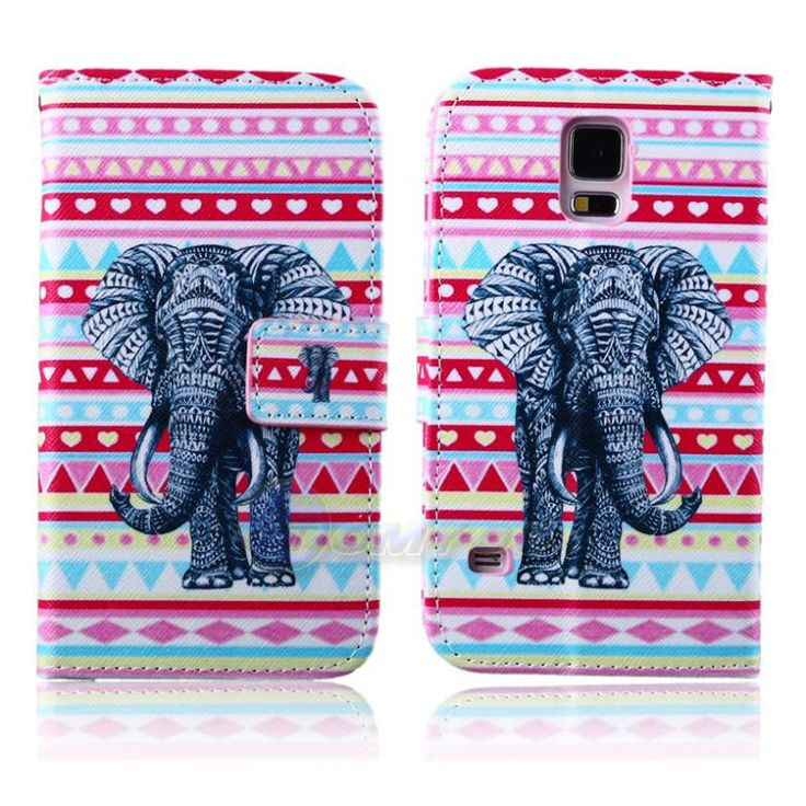 S5 i9600 Stand Wallet Case Leather Skin Card Slot Flip Cover Case For Samsung Galaxy S5 SV I9600 Phone Cases with Card Slot Bag