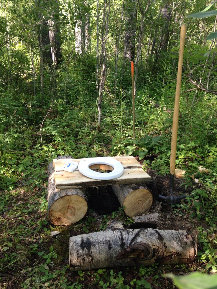 Instant outdoor potty