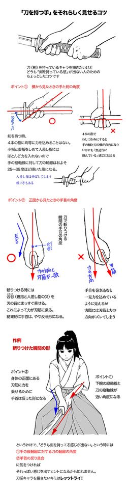 12 Tutorials related to Japanese blades! - pixiv Spotlight
