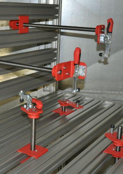 Arbeitsplatzsystem Spannsystem Spanntisch für Carbon Rennsport oder Industrie Vorrichtungsbau , Schnellspanntisch, Ingolstadt , Spannen , Technik