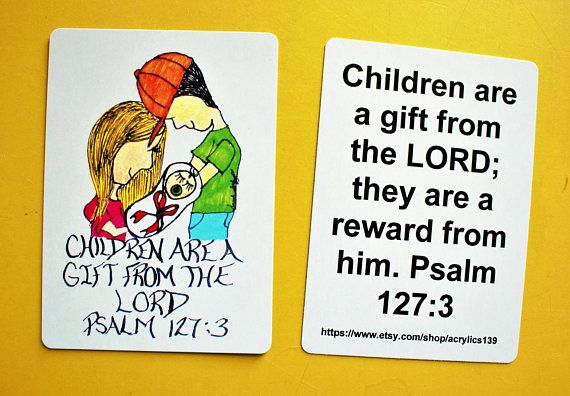 Scripture Doodle Card of Encouragement/Children are a gift