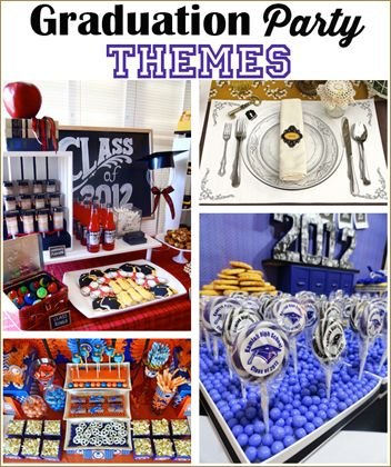 Graduation Party Themes.  Celebrate your graduate with these great party ideas.  Perfect for celebrating a high school graduation or college graduation.  Send your graduate off to new adventures with a bang!  Spirit night party ideas.