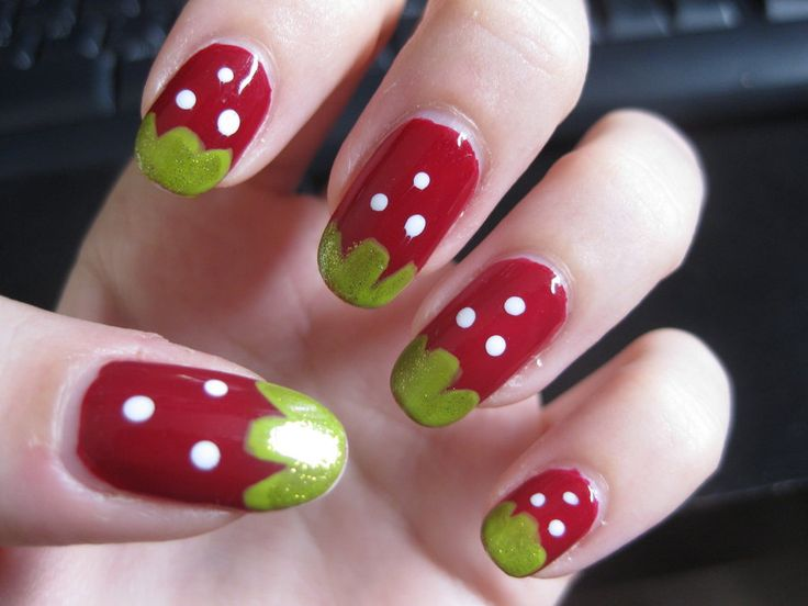 Best 25 strawberry nail art ideas on pinterest quirky diy nails strawberry nail art by zomijas on deviantart prinsesfo Images