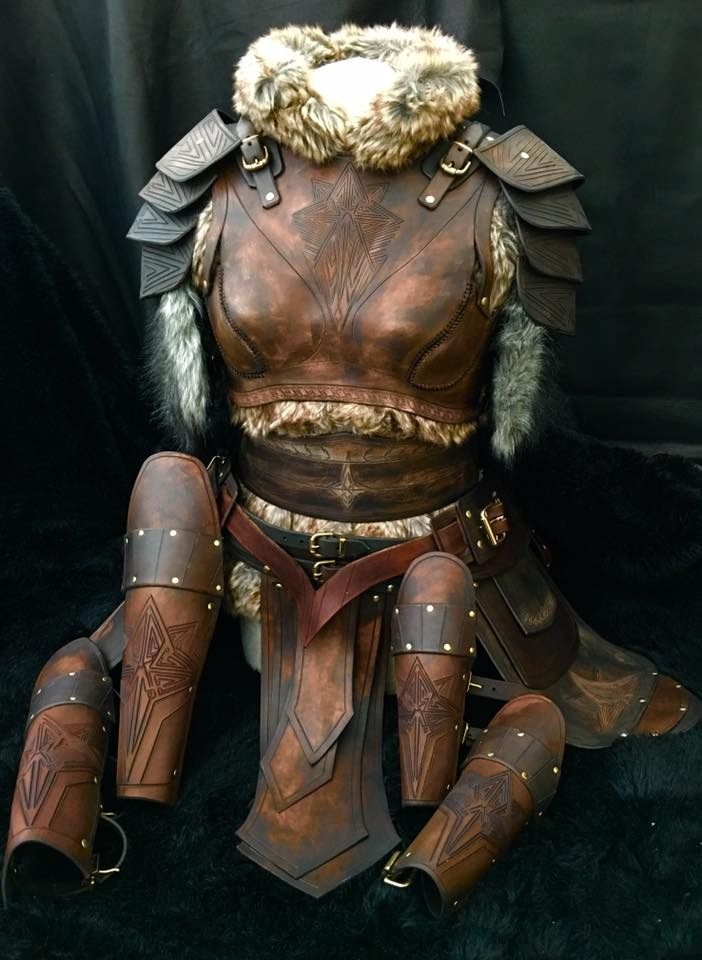This stunning leather Armour complete with belt and shoulders plus tassets, greaves and vambraces is one of a collection of unique designs that for the first time ever are to be offered by Black Raven Armour as 100% DIY leather…Read more ›