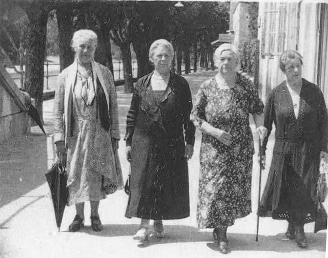Four younger sisters of Sigmund Freud: Regine, Marie, Esther and Pauline.   As Austrian Jews, Marie, Pauline and Regine were sent to Treblinka in 1942.  They died there in the gas chambers.  Esther was deported to Theresienstadt in 1943.  She died there after being severely beaten.  Another sister, Anna, escaped to New York and survived the war.  Freud escaped to London, where he lived until his death from cancer in 1939.