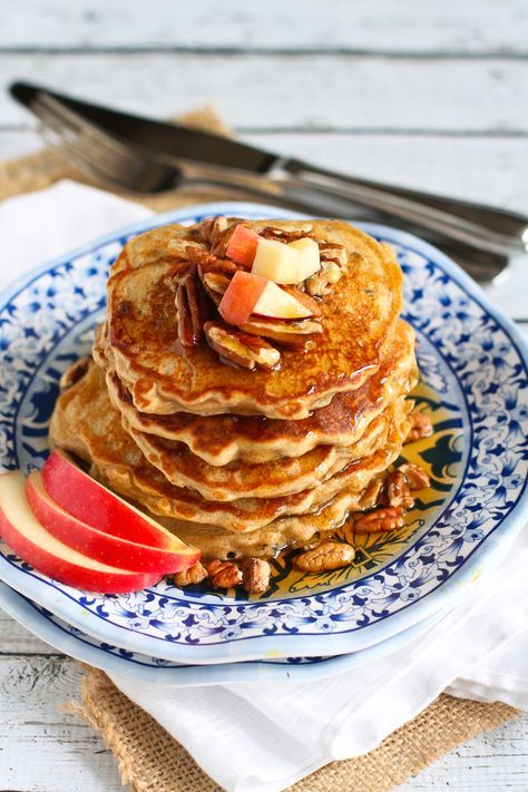 Apple Spice Pancakes. Tremendously yummy! By @cookincanuck for PW Food & Friends.