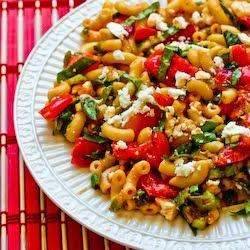 Kalyn's Kitchen®: Recipe for Macaroni Salad with Fresh Tomatoes, Fresh Basil, and Feta