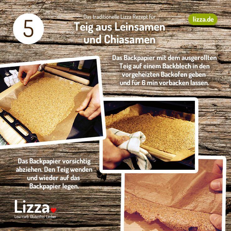 Low-carb Pizza Teig aus Chia- und Leinsamen Schritt 5