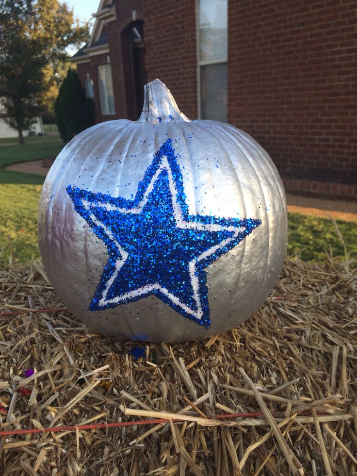 Dallas Cowboys Pumpkin Homemade Pinterest Dallas