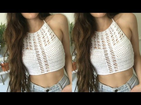 DIY Crochet Top // Hedea Halter - YouTube