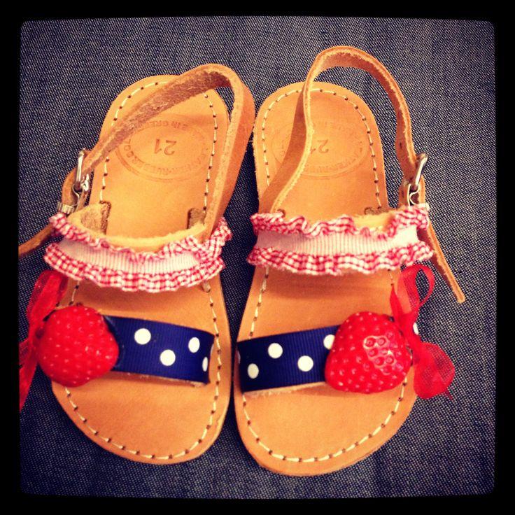 Greek sandals for girls