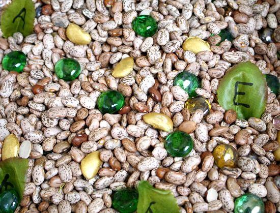 Jack and the Beanstalk Sensory Bin