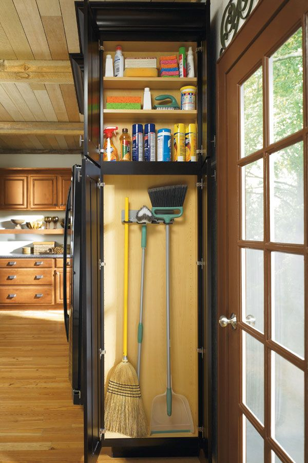 Keep cleaning supplies handy in a slim space with our Utility Organizer Cabinet.