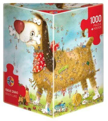 This is seriously epic!! I want it: Heye Marino Degano Puzzle - Dog's Life (1000 Pieces)
