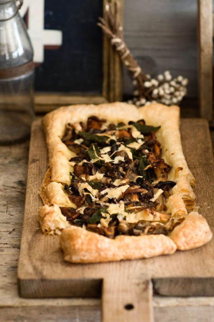 Mushroom Tart with Sage and Asiago | Sweet Paul Magazine