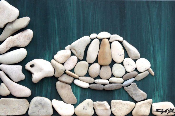 Doğal Taşları Döşereyerek Hayvan Figürleri Yapmak (1) - Doğal taşlar, doğal taş evler ve doğal taş ocakları