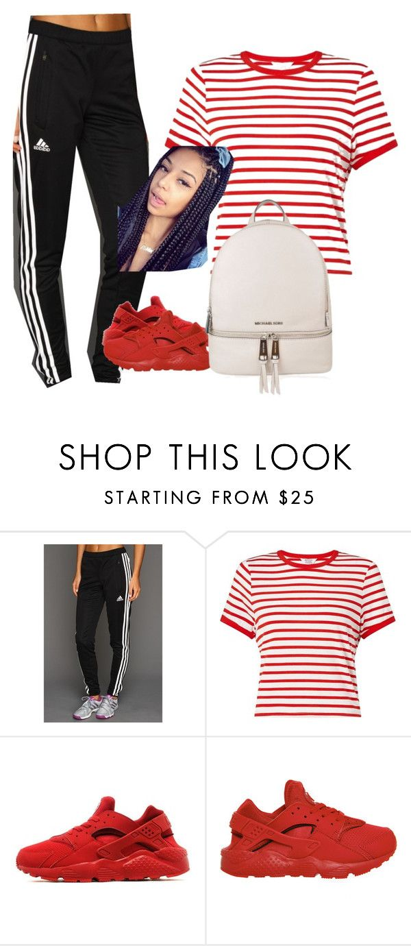 """Mind on Money"" by ashantisowell on Polyvore featuring adidas, Miss Selfridge, NIKE and MICHAEL Michael Kors"