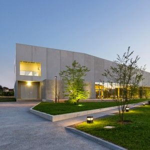 Concrete cultural centre completed by King Kong architects in picturesque French town